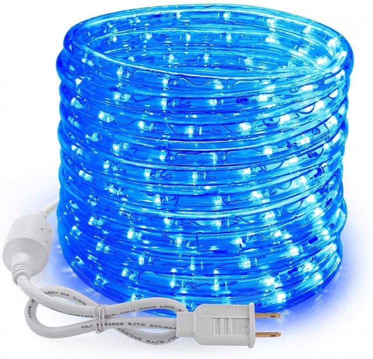 1,000 Sq. Ft. Blue Rope Light