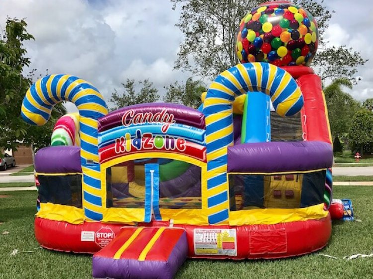Candyland Toddler Bounce House Combo