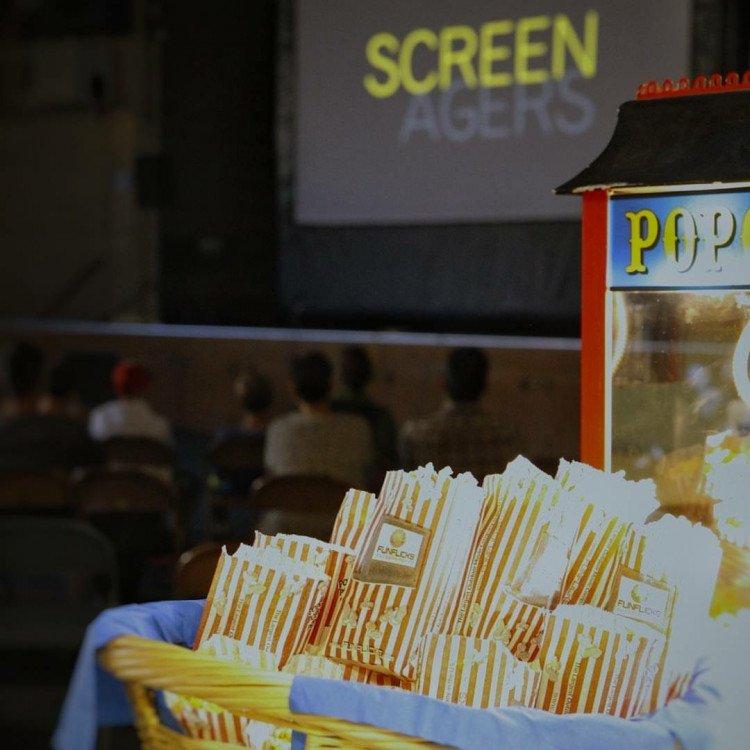 FunFlicks Popcorn Machine w/100 servings