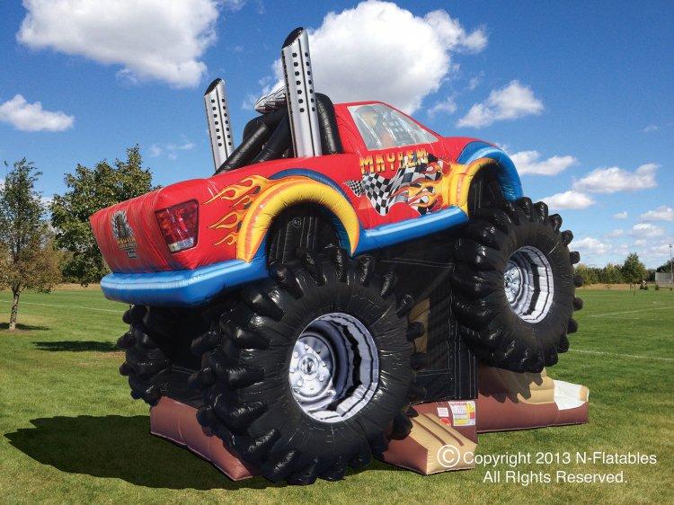 monster Truck Bounce House Combo