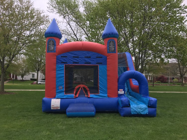 Red & Blue Jump  Bounce House Combo